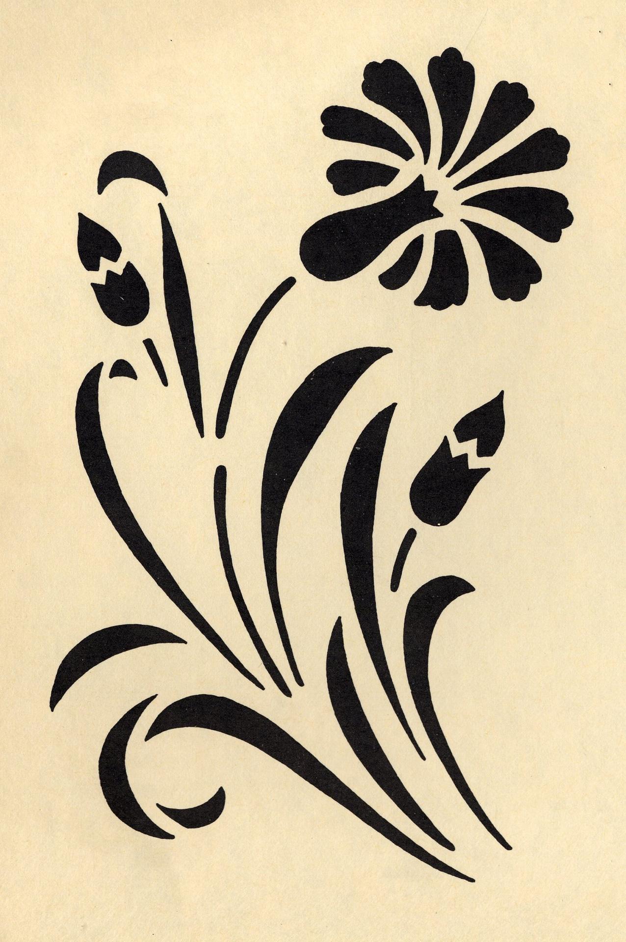 galerie des pochoirs fleurs loisirs creatifs de f1adc. Black Bedroom Furniture Sets. Home Design Ideas